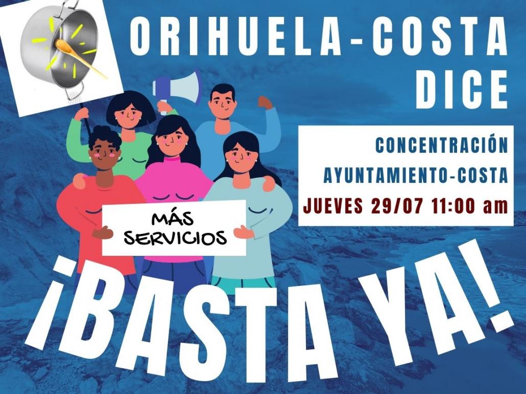 Orihuela-Costa Dice ¡Basta Ya!